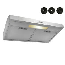 "30"" Under Cabinet Stainless Steel Push Panel Kitchen Range Hood w/ Carbon Filter"