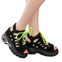 Womens Summer Sport Sandals Platform Hollow Wedges High Heels Ankle Boots Shoes