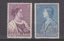 NVPH Netherlands Nederland nr 265 - 266 ong MLH 1934 crisiszegels Pays Bas