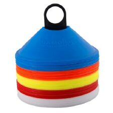 Agility Sports Marker Cones Space Markers Set Of 50 Coloured Discs With Stand