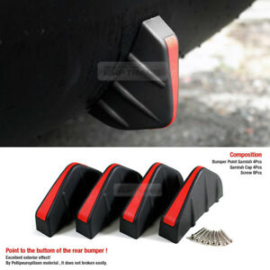 Bumper Diffuser Molding Point Garnish Air Spoiler Cover Black Red for NISSAN Car