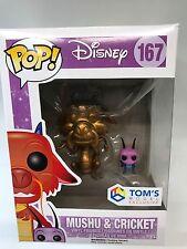 Funko Pop Disney - Mulan Mushu et Cricket Version Gold Exclusive 167 7111