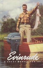 1952     EVINRUDE OUTBOARD MOTORS ADVERTISEMENT   &   PRICE SHEET      SEE SCANS