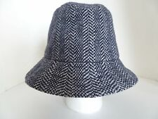 Kangol Heritage Blue Herringbone Clipper Wool Blend Tribly Large Size Hat