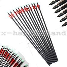 12PCs Recurve Compound Bow Hunting Hybrid Carbon Arrows Shafts Archery Supplies
