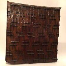 Vintage Wooden Metal Printer Block For Silk Fabric Textile Printing Art Piece