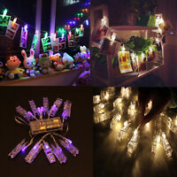 1.5M 10 Led Clip String Lights Home Garden Fairy Lamp Wedding Party Xmas Decor