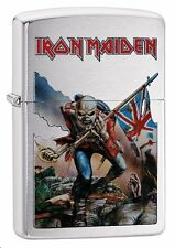 "Zippo ""Iron Maiden"" Brushed Chrome Finish Lighter, Full Size,  29432"