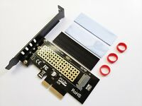 M.2 NVME 2280 SSD to PCIe PCI Express 3.0 x4 Convertor Adapter Card + Heatsink
