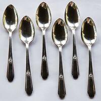 6 Wm Rogers Silverplate 1937 Memory Hiawatha Teaspoons IS Vintage Spoons