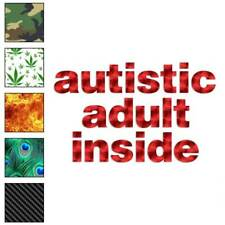 Autistic Adult Inside Decal Sticker Choose Pattern + Size #1234