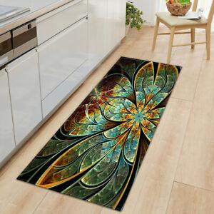 3D Flowers Kitchen Carpet Bedroom Living Room Hallway Floor Rug Entrance Mat