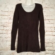 Womens VINCE Size M 100% Cashmere Brown Long Sleeve Sweater Medium