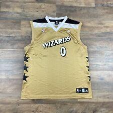 Gilbert Arenas Washington Wizards Alternate Jersey Men's XL NBA Basketball Gold