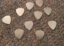 Stainless Steel Guitar Picks Lot of 10 .30 mm Thin Electric Free Tracking New!