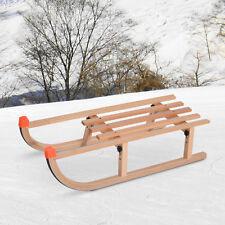 Traditional Wooden Snow Sled Ski Sliding Toboggan Sleigh Sledge Outdoor Sport