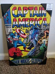 Captain America Wood Wall Art Marvel Comics Silver Buffalo