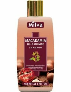 Milva MACADAMIA OIL QUININE SHAMPOO Hair Growth Hydration  Regeneration