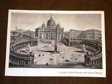 Roma La Basilica di San Pietro nel 1850