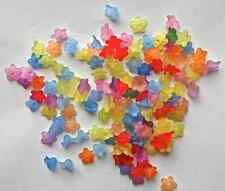 150 x Multicolour Frosted Acrylic Flower Lucite Beads 10mm Jewellery Making A8