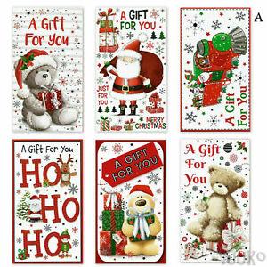 9 Cute Assorted Christmas Money Envelopes Gift Card Voucher Wallet