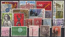 Belgique - 19 timbres oblitérés -