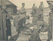 Foto Russland-Feldzug Wehrmacht russische Kriegsgefangene (397x)