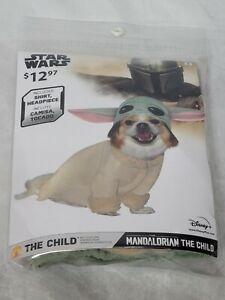 Disney Star Wars THE CHILD Mandalorian MEDIUM Baby Yoda Pet Costume Dog Puppy