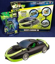 BEN 10 - BEN'S MARK 10 Race Car + 2 BEN TENNYSON FIGURES Ultimate Alien 4 MODES