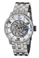 Brand new gevril motorcycle sports watch with a blue and white face