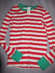 Euc Mini Boden red stripe cotton pajama top boy 10 y free ship US