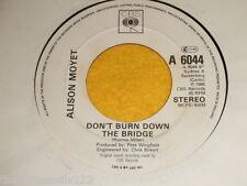 "VINYL 7"" SINGLE - ALISON MOYET - DON'T BURN THE BRIDGE DOWN - 6044"