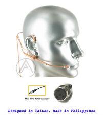 Tan Beige Headset Mic Microphone Compatible w Shure Wireless L1 PGX SLX UT ULX