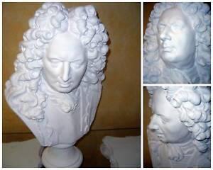 Sculpture Tete Buste  VAUBAN,en platre de moulage(STAFF),H:62cm. article neuf
