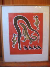 STUNNING ABORIGINAL ART SERIGRAPH INTRICATE COLORS
