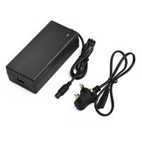 48V Output Lithium Battery Charger 54.6V 2A For Electric Scooter  E-Bike Black