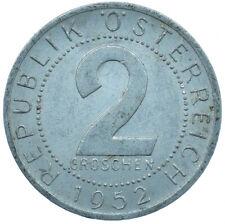 1952 / 2 GROSCHEN / AUSTRIA / OSTERREICH / COLLECTIBLE COIN   #WT29998