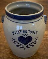 Home Sweet Home Salt Glaze Stoneware Kitchen Tools Utility Crock