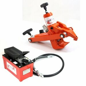Tractor Truck Tire Hydraulic Bead Breaker Changer W/10000PSI Foot Pump & AirHose