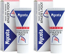 Mycota Athletes Foot Cream 25g X2 TWIN PACK - Treats And Prevents Athletes Foot