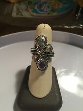 Carolyn Pollack Sterling Silver Ring with Gemstones size 8     (7