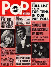 Pop Weekly Magazine 13 February 1965    The Beatles    The Kinks    Petula Clark