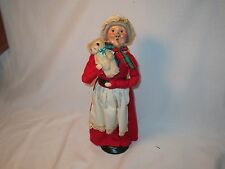Byers Choice Retired 1984 First Edition Mrs Claus with Teddy Bear