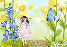 """perfact oil painting handpainted on canvas """"little girl,butterfly,flowers""""NO411"""