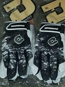DeMarini Adult Digi Camo II Batting Gloves- lot of 2 pairs XL extra lg Black NWT