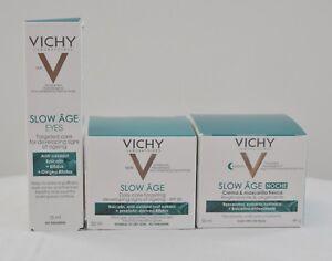 Vichy Slow Age Complete Set 1) Day Cream 2) Night Cream 3) Eye Cream Normal Skin