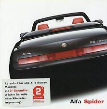 Alfa Romeo Spider Prospekt 2001 8/01 12 S. Autoprospekt Broschüre Auto Italien