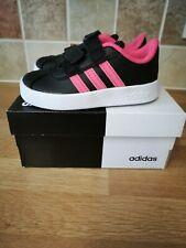 Girls Adidas Trainers Black/Pink Size 6 Infants