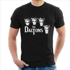 Lucky Luke The Daltons Outlaws Villain With The Beatles Parody Black T-Shirt