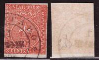 Parma, 15 centesimi vermiglio del 1853 usato (Diena)        -BO70